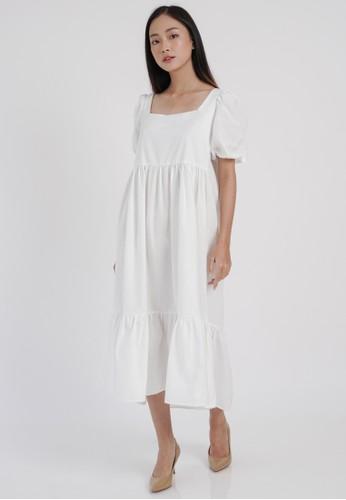 DARA white Yuri Dress in White 68CBCAA55F3271GS_1