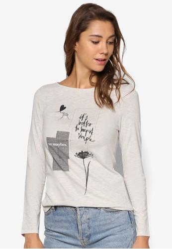 圖文精緻長袖衫、 服飾、 T-shirtESPRIT圖文設計長袖衫最新折價