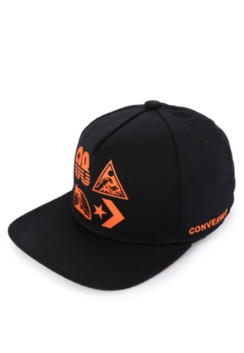 Converse black Mens Graphic Snapback 7338EAC72A0EE9GS_1