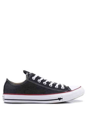 b0262a150d28 Converse black Chuck Taylor All Star Sucker For Love Ox Sneakers  AC5FCSHDDDC01CGS 1