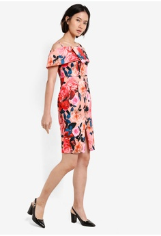 7ebe5eb3be 70% OFF Dorothy Perkins Petite Floral Bardot Dress RM 338.70 NOW RM 101.90  Sizes 6 10