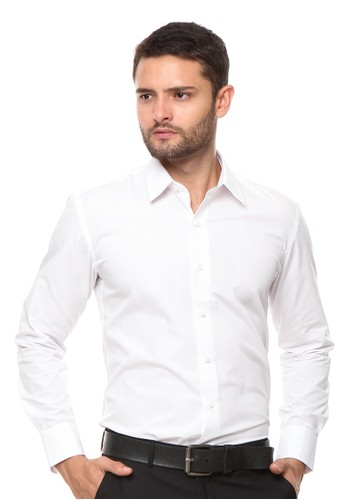 The Executive white Long Sleeves Shirt 6C3CBAA1AFDEF4GS_1