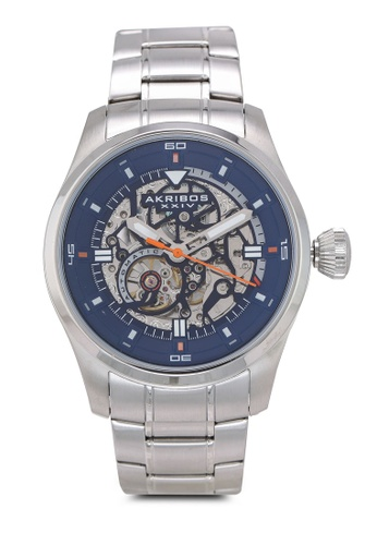Akribos XXIV silver Automatic Skeleton Watch 08146ACBEEE897GS_1
