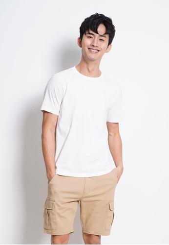 Hi Style white Plain Short Sleeve Tee CFCA9AAA40CCBBGS_1