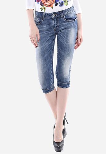LGS blue LGS - Celana Capri - Biru - Slim Fit - Jeans Premium - Detail Whisker. LG695AA01GWKID_1