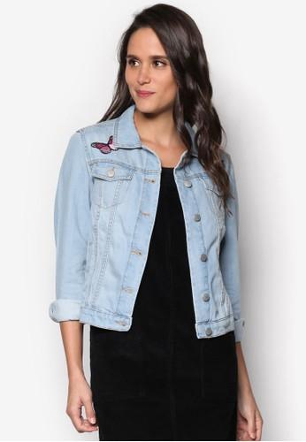 刺繡圖案丹寧外套、 服飾、 外套DorothyPerkins刺繡圖案丹寧外套最新折價