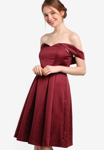 ZALORA red Bridesmaid Off Shoulder Midi Dress 64807AA02C3E74GS_1