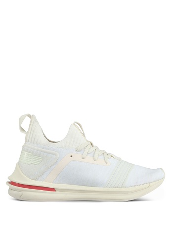 Puma white Ignite Limitless Sr Evoknit Shoes PU549SH0SWD4MY_1