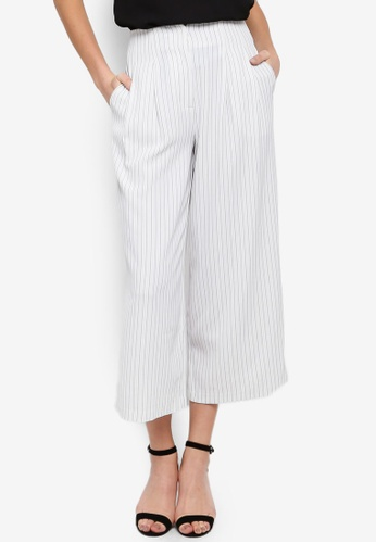 FORCAST white Caesar Pleated Culottes 1D7F9AAE989657GS_1