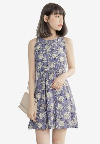 Eyescream purple Printed Floral Dress 1861CAA5109884GS_1