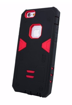 Armor Hybrid Anti Shock Heavy Duty Case for Apple iPhone 6 Plus 5.5 - Black/Red
