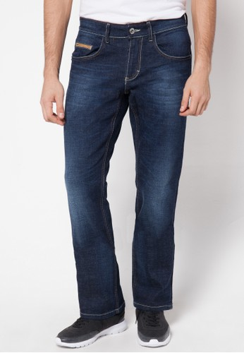 Watchout! Jeans Straight Relax Jeans Pants 652