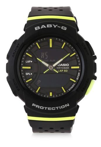 Baby-G black Casio BABY-G Jam Tangan Wanita - Black Yellow - Resin - BGA-240-1A2DR 81FAAAC3098527GS_1