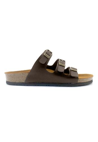 SoleSimple 褐色 Ely - 深棕褐色 百搭/搭帶 全皮軟木涼鞋 2A675SH5DB4F0AGS_1
