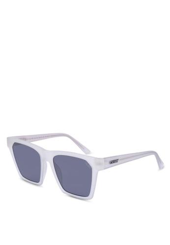 Quay Australia white Alright Sunglasses 6A4FFGL6AB5EC8GS_1