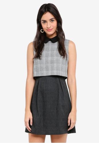 ZALORA multi Crop Top Mini Dress 18321AAF94ECC3GS_1
