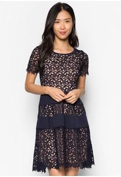 Premium Panelled Lace Dress