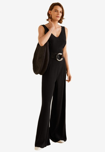 55764c303d2 Buy Mango Bow Long Jumpsuit Online on ZALORA Singapore