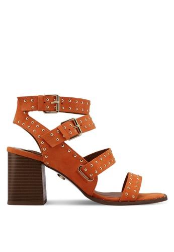 River Island brown Ad Campaign Multi Strap Studded Sandal 40A2FSHC085090GS_1