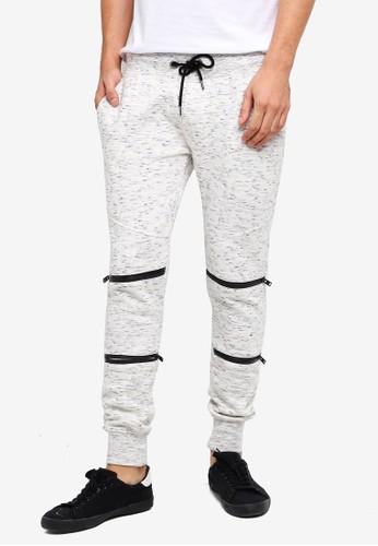 Brave Soul white Zip Details Jogger Pants 3FF61AAEF5CE40GS_1