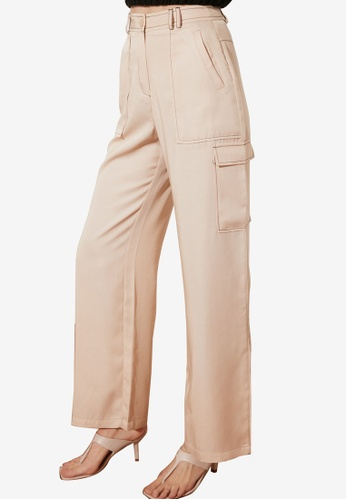 Trendyol 米褐色 Cargo Style 小袋 長褲 EA200AAAB28E08GS_1