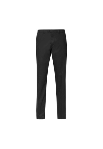 MARKS & SPENCER black M&S Slim Fit Chinos with Stretch B2F51AAEB72E44GS_1