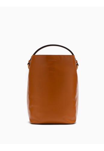 Calvin Klein brown Leather Bucket Bag 71F59ACCE9EC11GS_1