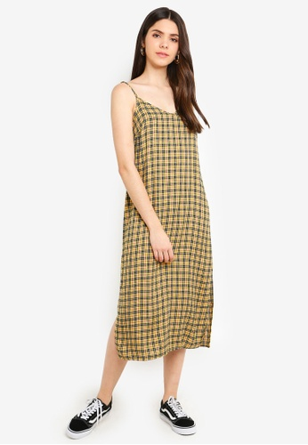 Factorie yellow Midi Slip Dress 3ED06AA674A2F8GS_1
