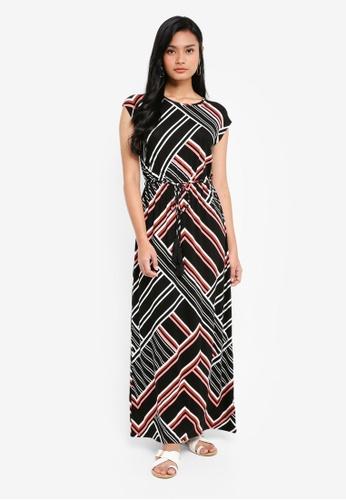 Dorothy Perkins pink Geo Print Tassel Tie Maxi Dress A7848AA04D6F37GS_1