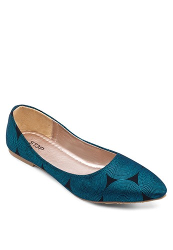 Cirzalora 鞋評價ca 印花尖頭娃娃鞋, 女鞋, 芭蕾平底鞋