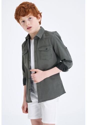 DeFacto green Long Sleeve Denim Shirt 9919FKA492A7AEGS_1