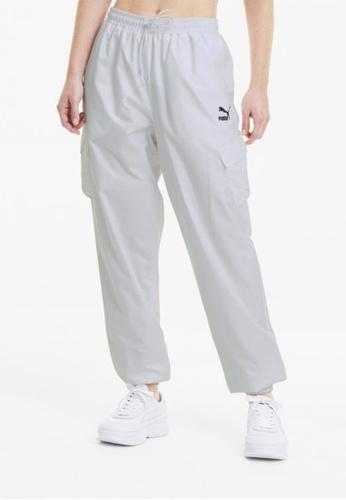 PUMA white Classics Utility Woven Women's Pants 7A535AAF117CB0GS_1