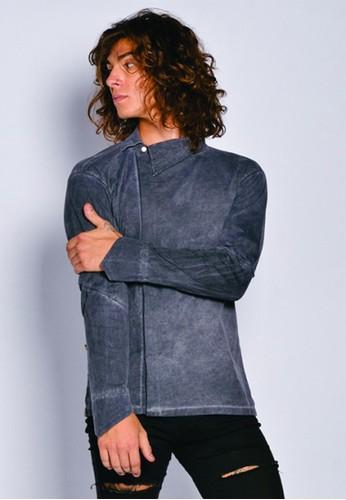 Gingersnap Bali black Washed Out Men Longsleeve Renoir Shirt D9C76AAC0126D5GS_1