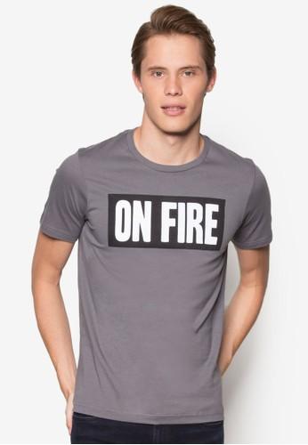 『著火』文字設計TEE, 服飾, esprit官網T恤