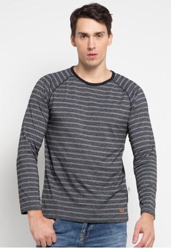 Cressida grey Raglan Stripe Tee CR235AA0U62XID_1