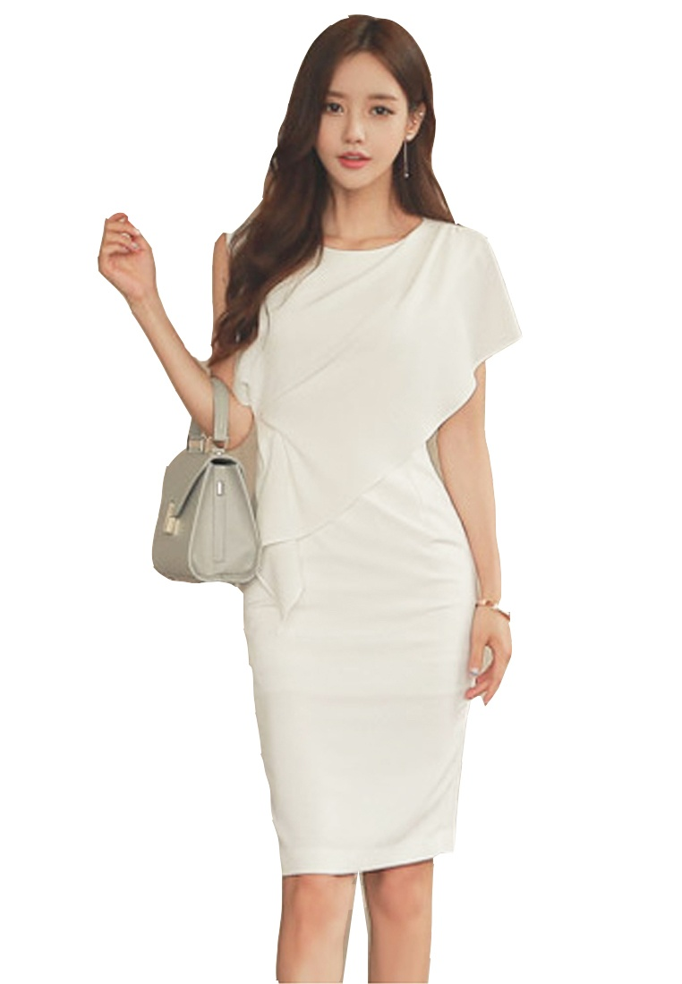 UA040329 2017 Dress Piece white White One S S Elegant Sunnydaysweety aCxwqB7R