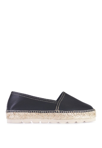 TONI PONS black ALMA-P CAMPING LEATHER - Slip-On Espadrilles 6D96ASH3FF3951GS_1