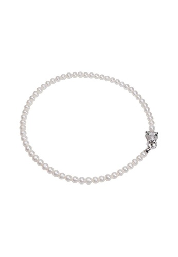 Pearly Lustre silver Pearly Lustre New Yorker Panther Freshwater Pearl Necklace WN00042 F2755ACB185EE8GS_1