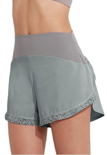 Sunnydaysweety blue Luminous Quick-Dried Sports Shorts A081013BL D7BADAA44CAA9DGS_1