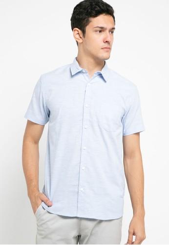 OLLten blue O/L-Men Shirt CCFC2AA0DF8AF8GS_1