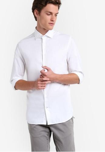 MANGO Man white Slim-Fit Tailored Cotton Shirt MA449AA78ZVHMY_1