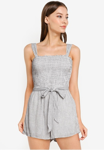 Abercrombie & Fitch multi Tie Strap Smocked Romper B2756AA588073AGS_1
