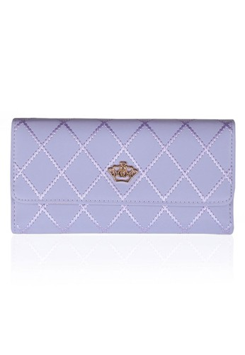 VERNYX - Woman's Lovely Bowknot Wallet DO433 Purple - Dompet Wanita