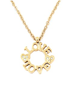 Round Love Rose Plated Necklace