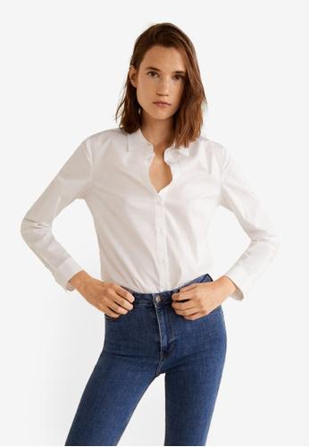 Mango 白色 襯衫 36AF2AA1C4995AGS_1