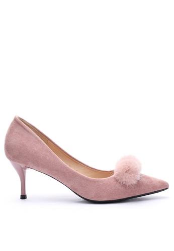 Twenty Eight Shoes 6.5CM Fur Ball Suede Fabric Mid Heel 208-31 1EBDBSHA279290GS_1