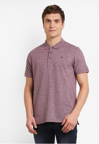 Burton Menswear London red Berry Jaspe Polo Shirt BU964AA0S2BGMY_1