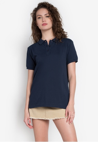 Freego blue Ladies Basic Polo Tee FR760AA0KCBMPH_1
