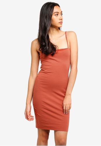 Supre brown Square Neck Mini Dress 4DD35AA5956E2AGS_1