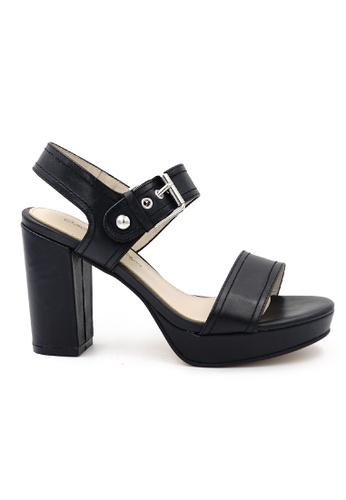 OSCAR & MAYA black IRIA 10cm High-heel Strappy Platform Sandals OS304SH08GLJHK_1